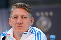 08.06.2015, Mercedes Benz Zenter, Koeln, GER, Nationalmannschaft, Pressekonferenz, im Bild Bastian Schweinsteiger (FC Bayern Muenchen) // during a press conference of the german national football team at the Mercedes Benz Zenter in Koeln, Germany on 2015/06/08. EXPA Pictures © 2015, PhotoCredit: EXPA/ Eibner-Pressefoto/ Schüler<br /> <br /> *****ATTENTION - OUT of GER*****