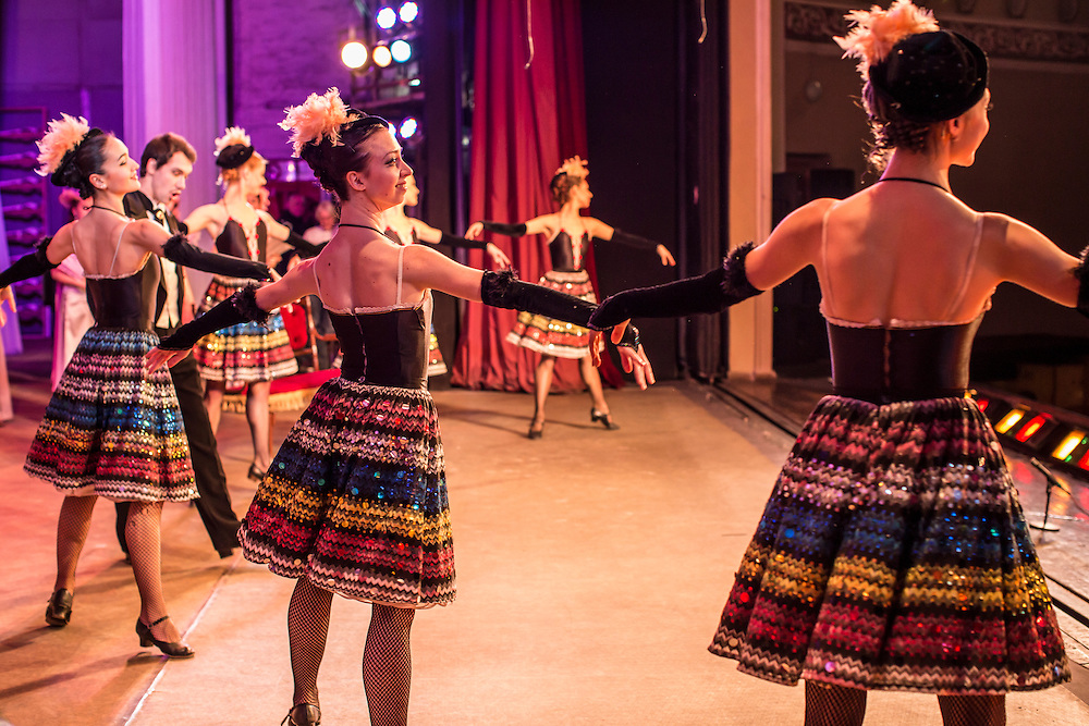 DONETSK, UKRAINE - FEBRUARY 1, 2015: Performers with the Donetsk National Academic Opera and Ballet Theatre during a performance of The Gypsy Princess in Donetsk, Ukraine. The opera company kicked off a new season in October, despite a separatist insurgency in Eastern Ukraine that has killed more than 5000 people. CREDIT: Brendan Hoffman for The New York Times