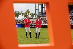 Wathelet Gregory, BEL, Guerdat Steve, SUI<br /> CHIO Aachen 2019<br /> Weltfest des Pferdesports<br /> © Hippo Foto - Stefan Lafrentz<br /> Wathelet Gregory, BEL, Guerdat Steve, SUI