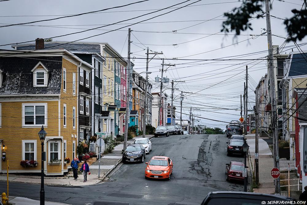 The Jelly Bean Row neighborhood in St. John's, Newfoundland, Canada.