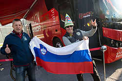 Fans of Slovenia prior to the Men Elite Road Race at 258.5km Race from Kufstein to Innsbruck 582m at the 91st UCI Road World Championships 2018 / RR / RWC / on September 30, 2018 in Innsbruck, Austria. Photo by Vid Ponikvar / Sportida