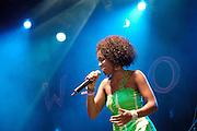 Lura (Maria de Lurdes Assun&ccedil;&atilde;o Pina)<br /> Portuguese singer, songwriter and musician, of Cape Verdean descent.<br /> WOMAD Festival, Reading, England, July 2005.