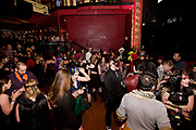 Attendees mingle before Fire Ball X: Apocalypse at The Majestic Theater in Madison, Wisconsin., Saturday, Jan. 27, 2018.