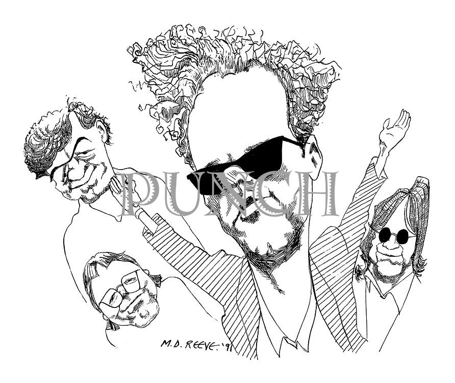 Portrait of band REM