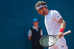 Gerald Melzer (AUT) during a tennis match against the Dmitry Surchenko (RUS) in Qualification round of singles at 26. Konzum Croatia Open Umag 2015, on July 19, 2015, in Umag, Croatia. Ptoto by Urban Urbanc / Sportida.com