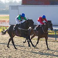 Staffhoss and S De Sousa winning the 12.05 race