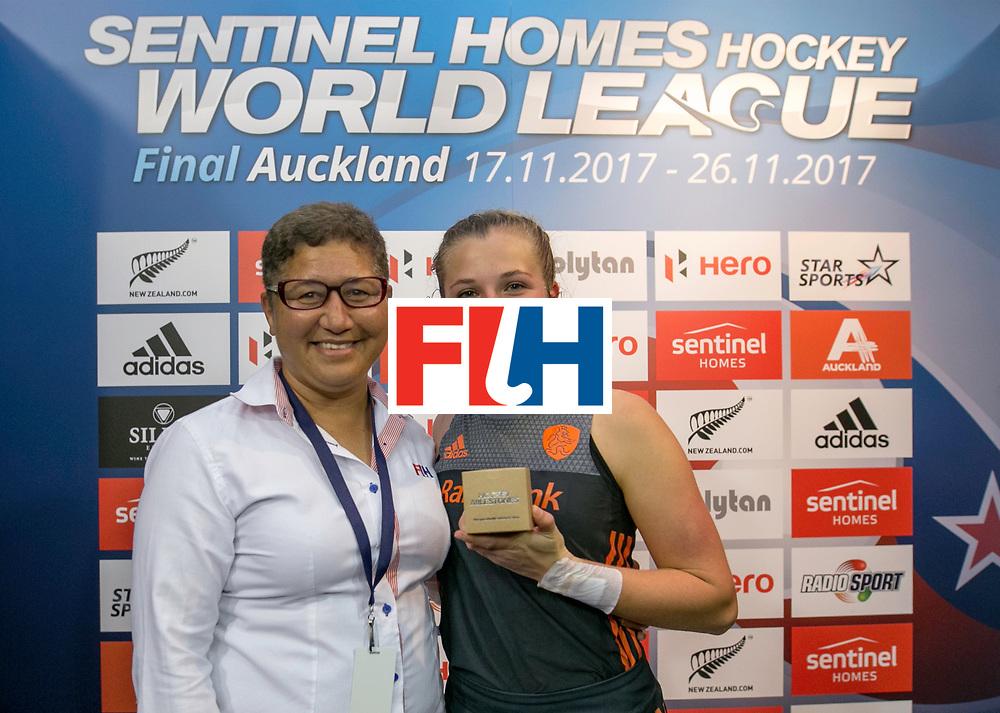 AUCKLAND - Sentinel Hockey World League final women<br /> World Cup<br /> Foto: Xan de Waard  100 match.<br />  Nederlands dames hockey elftal bereikt de semi finale.
