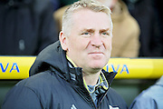Brentford manager (head coach) Dean Smith before  the EFL Sky Bet Championship match between Norwich City and Brentford at Carrow Road, Norwich, England on 3 December 2016. Photo by Nigel Cole.