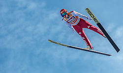 28.01.2017, Casino Arena, Seefeld, AUT, FIS Weltcup Nordische Kombination, Seefeld Triple, Skisprung, im Bild Eric Frenzel (GER) // Eric Frenzel of Germany in action during his Competition Jump of Skijumping of the FIS Nordic Combined World Cup Seefeld Triple at the Casino Arena in Seefeld, Austria on 2017/01/28. EXPA Pictures © 2017, PhotoCredit: EXPA/ JFK