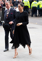 The Duchess of Sussex arrives at the Association of Commonwealth Universities to meet with students and academics from across the ACU's network in Clerkenwell, London. Photo credit should read: Doug Peters/EMPICS
