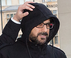 """© Licensed to London News Pictures. FILE PHOTOGRAPH. 20/11/2015. London, UK. Mazher Mahmood, known as the """"Fake Sheikh"""" arrives at Wetminster Magistrates court where he appeared with Alan Smith, charged with perverting the course of justice. Mazher Mahmoood was today found guilty at the Old Bailey.  Photo credit : Vickie Flores/LNP"""