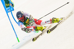 March 9, 2019 - Kranjska Gora, Kranjska Gora, Slovenia - Daniele Sette of Switzerland in action during Audi FIS Ski World Cup Vitranc on March 8, 2019 in Kranjska Gora, Slovenia. (Credit Image: © Rok Rakun/Pacific Press via ZUMA Wire)