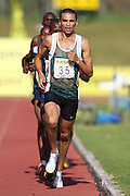 BELLVILLE, SOUTH AFRICA, Saturday 3 March 2012, Elroy Gelant in the 5000m for men during the Yellow Pages Interprovincial held at Bellville Stadium stadium, outside Cape Town..Photo by ImageSA/ASA