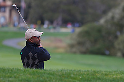 Feb 11, 2012; Pebble Beach CA, USA; Recording artist Darius Rucker stands in a sand trap on the third hole during the third round of the AT&T Pebble Beach Pro-Am at Pebble Beach Golf Links. Mandatory Credit: Jason O. Watson-US PRESSWIRE