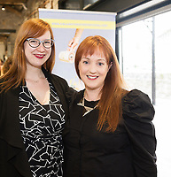 Charlotte McIvor and Marianne Ní Chinnéide (NUI Galway's O'Donoghue Centre) at the launch of The Galway Theatre Festival and the NUI Galway's O'Donoghue Centre for Drama, Theatre and Performance  . Photo:Andrew Downes, xposure