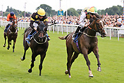 ESCOBAR (1) ridden by Jamie Spencer and trained by David O'Meara winning The John Smiths Racing Stables Handicap Stakes over 1m (£25,000 ) during the John Smiths Diamond Cup Meeting at York Racecourse, York, United Kingdom on 13 July 2019.