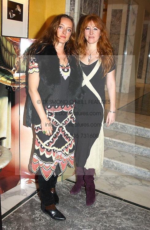 Left to right, ALICE TEMPERLEY and CHARLOTTE TILBURY at the launch of MAC's High Tea collection with leading British designers held at The Berkeley Hotel, London on 17th January 2005.  MAC has collabroated with The Berkeley's Pret-a-Portea, which adds a creative twist to th classic elements of the English afternoon tea with cakes and pastries inspired by fashion designs.<br />