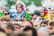 Fans watch as Father John Misty play the Obelisk stage - The 2016 Latitude Festival, Henham Park, Suffolk.