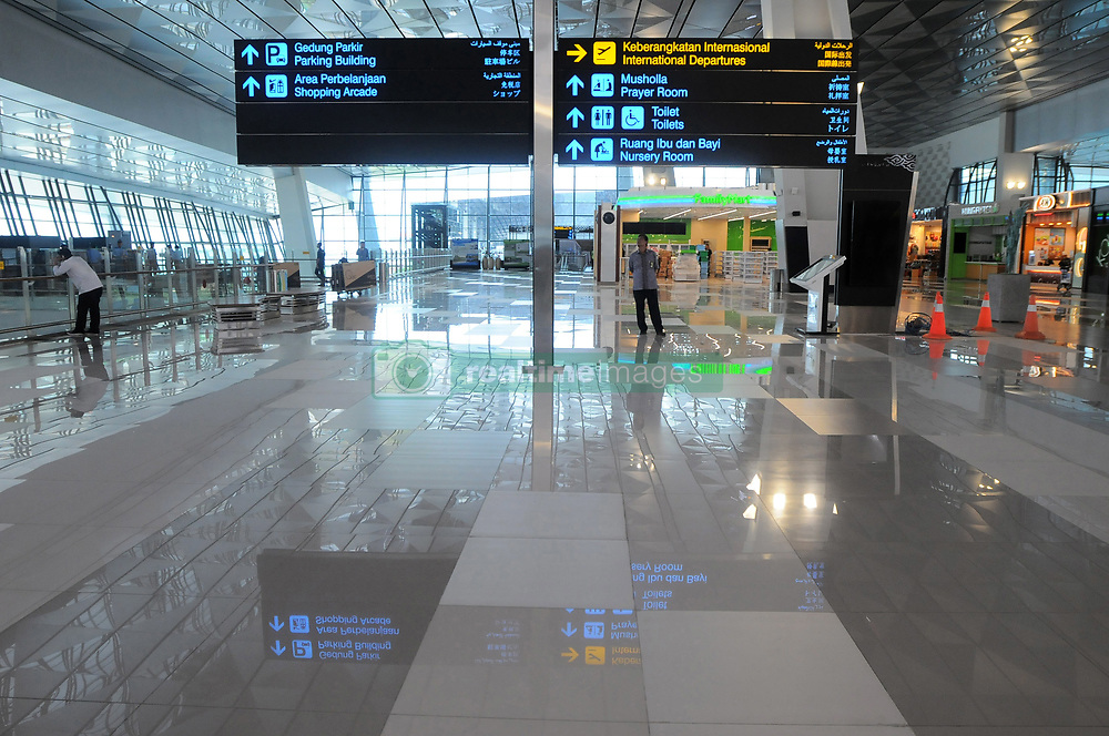 April 28, 2017 - Tangerang, Tangerang, Indonesia - Activity in Terminal 3 Soekarno-Hatta Internasional Airport Tangerang, Banten, on April 28,2017. The New Terminal 3 Soekarno-Hatta International Airport will be operated for International flight on May 1,2017. The operational will be marked by first International fligh by Garuda Indonesia airline with route Jakarta Singapore at 06:10 AM Indonesia Time, to support flight service the Terminal 3 equipped with many modern facilites,such as informantion display system with modern technology supported smartphone applications so that facilitate passengers and visitors looking for parking location, order parking, space taxi, reservation, and see the fligth schedule. (Credit Image: © Dasril Roszandi/NurPhoto via ZUMA Press)