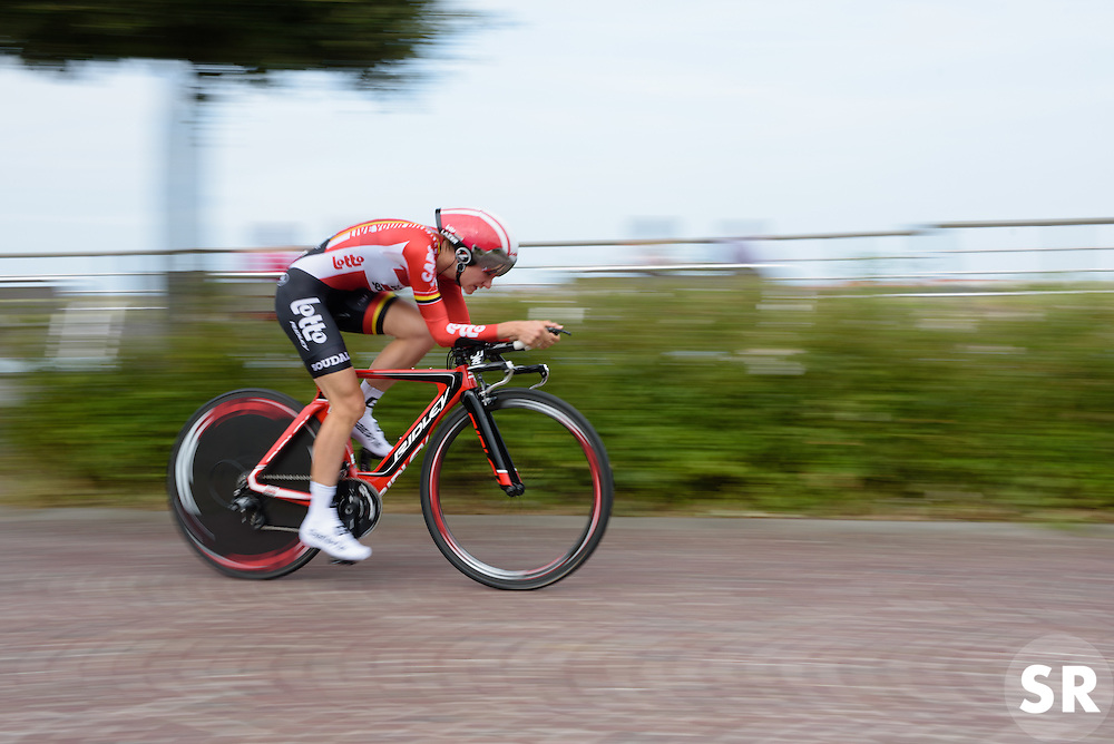 Claudia Lichtenberg (Lotto Soudal) at the 4.4 km Prologue of the Lotto Belgium Tour 2016 on 6th September 2016 in Nieuwpoort, Belgium. (Photo by Sean Robinson/Velofocus).
