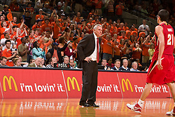 Maryland head coach Gary Williams during a game against UVA.  The Virginia Cavaliers defeated the Maryland Terrapins 68-63 at the John Paul Jones Arena on the Grounds of the University of Virginia in Charlottesville, VA on March 7, 2009.