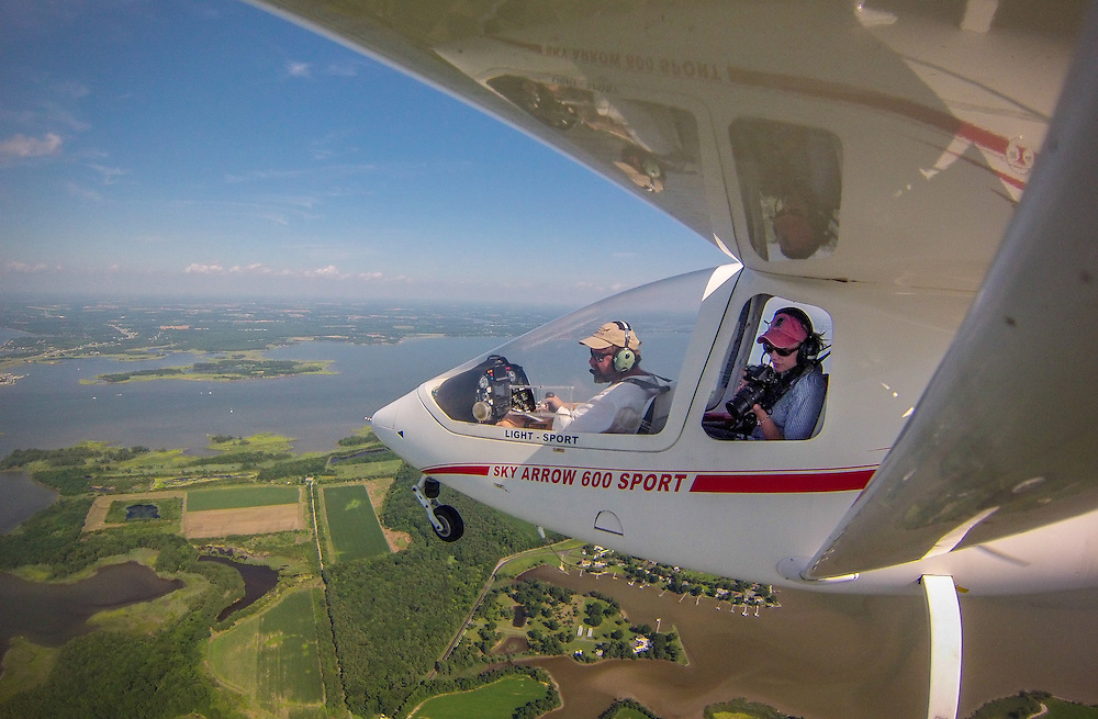 Aerial photography from Shy Arrow 600 LSA light sport airplane
