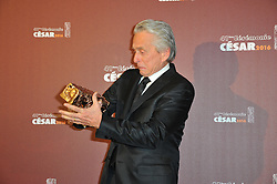US actor Michael Douglas posing at the photocall as part of the 41st Annual Cesar Film Awards ceremony held at the Theatre du Chatelet in Paris, France on February 26, 2016. Photo by Gouhier-Guibbaud-Wyters/ABACAPRESS.COM