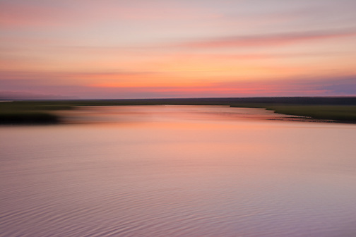 Abstract view of Ocean Isle Marsh.