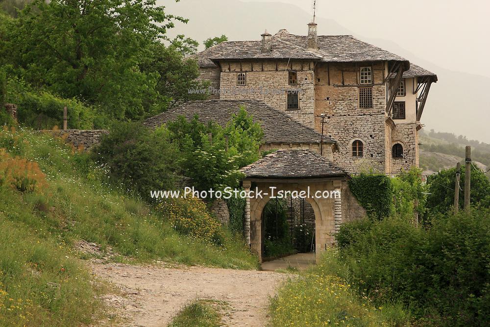 Albania, Gjirokaster, Old stone building