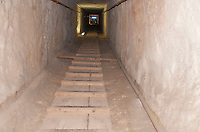 Shaft leading down to the Cistern Chamber in the Great Pyramid, Giza, Egypt.