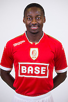 Standard's Eyong Enoh pictured during the 2015-2016 season photo shoot of Belgian first league soccer team Standard de Liege, Monday 13 July 2015 in Liege.
