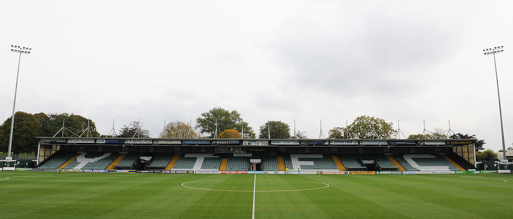 General view of Huish Park.  - Mandatory byline: Alex Davidson/JMP - 07966 386802 - 10/10/2015 - FOOTBALL - Huish Park - Yeovil, England - Yeovil v Dagenham - Sky Bet League Two