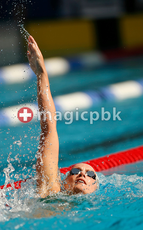 Joanna FARGUS of Australia competes in the women's 100m backstroke final on day 2 at the 28th International Swimming Meet (50m) held at Piscina Pere Serrat in Barcelona, Spain, Thursday, June 14, 2007. (Photo by Patrick B. Kraemer / MAGICPBK)