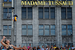 20150629 NED: WK Beachvolleybal day 4<br /> Juliana Felisberta Da Silva #1 / Maria Antonelli #2 BRA verliezen met 2-1 van de Duitse Julia Sude #1 / Chantal Laboureur #2