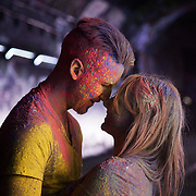 Georgina Loe and Zac Hill. The video the Power of IF was filmed in a tunnel by Waterloo and was filmed and produced by Armoury London. More than a hundred 16 - 25 yr olds joined a creative paint-fuelled event to express their support for the Enough Food IF campaign. While making the video was a fun and colourful process, the message remains a serious one: global hunger is outrageous and unacceptable.