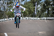 #6 (SAKAKIBARA Saya) AUS during practice at round 1 of the 2018 UCI BMX Supercross World Cup in Santiago del Estero, Argentina.