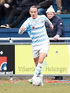 FODBOLD: Frederik Bay (FC Helsingør) under kampen i NordicBet Ligaen mellem FC Helsingør og Nykøbing FC den 12. marts 2017 på Helsingør Stadion. Foto: Claus Birch