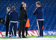 Manager Serhiy Rebrov of Dynamo Kyiv before the UEFA Champions League match at Stamford Bridge, London<br /> Picture by Alan Stanford/Focus Images Ltd +44 7915 056117<br /> 04/11/2015