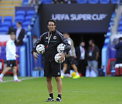 Sevilla Manager, Unai Emery Etxegoien - Photo mandatory by-line: Joe Meredith/JMP - Mobile: 07966 386802 11/08/2014 - SPORT - FOOTBALL - Cardiff - Cardiff City Stadium - Real Madrid v Sevilla - UEFA Super Cup - Press Conference and Open Training session