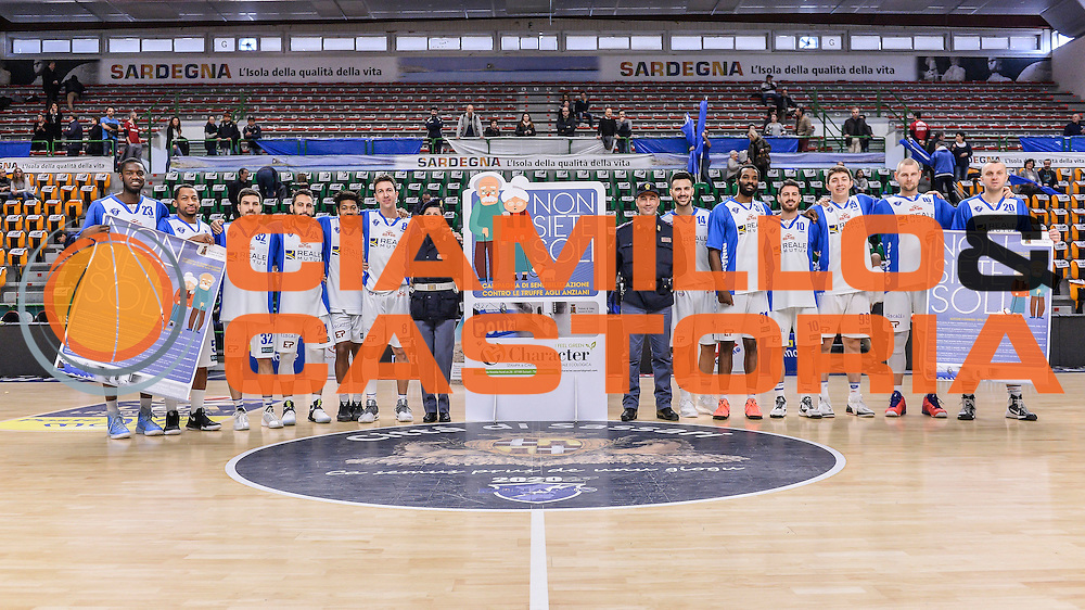 Team Banco di Sardegna Dinamo Sassari, Campagna Polizia di Stato<br /> Banco di Sardegna Dinamo Sassari - Red October Pallacanestro Cantù<br /> LegaBasket Serie A Poste Mobile 2016/2017<br /> Sassari 12/02/2017<br /> Foto Ciamillo-Castoria