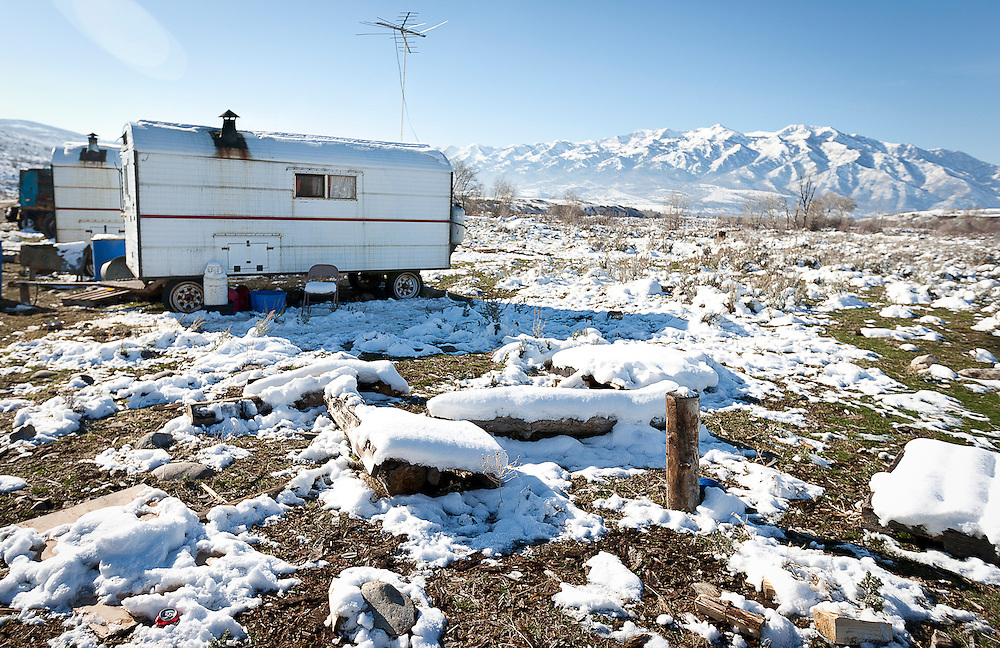 A few of the accommodations for Peruvian sheepherders at the ACE Land and Livestock sheep farm outside Morgan, Tuesday, Nov. 13, 2012.