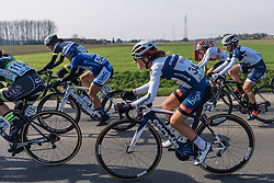 Gabrielle Pilote Fortin finds some space in the bunch during a nervy start for the peloton - 2016 Omloop het Nieuwsblad - Elite Women, a 124km road race from Vlaams Wielercentrum Eddy Merckx to Ghent on February 27, 2016 in East Flanders, Belgium.
