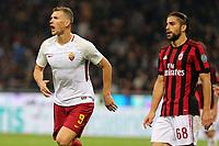 01.10.2017 - Milano  Serie A 7a   giornata  -  Milan-Roma  nella  foto: Edin Dzeko esulta dopo il gol dell' 1 a 0