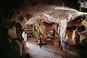 Crocodile Harry, an artist who has made his home and studio in an abandoned opal mine. Coober Pedy. South Australia.