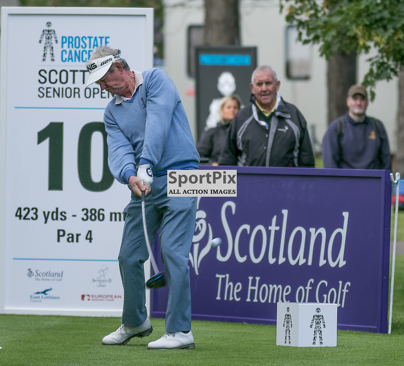 Noel RATCLIFFE (Australia) tees of at his first hole.  Prostate Cancer UK Scottish Senior Open, 28th August 2015