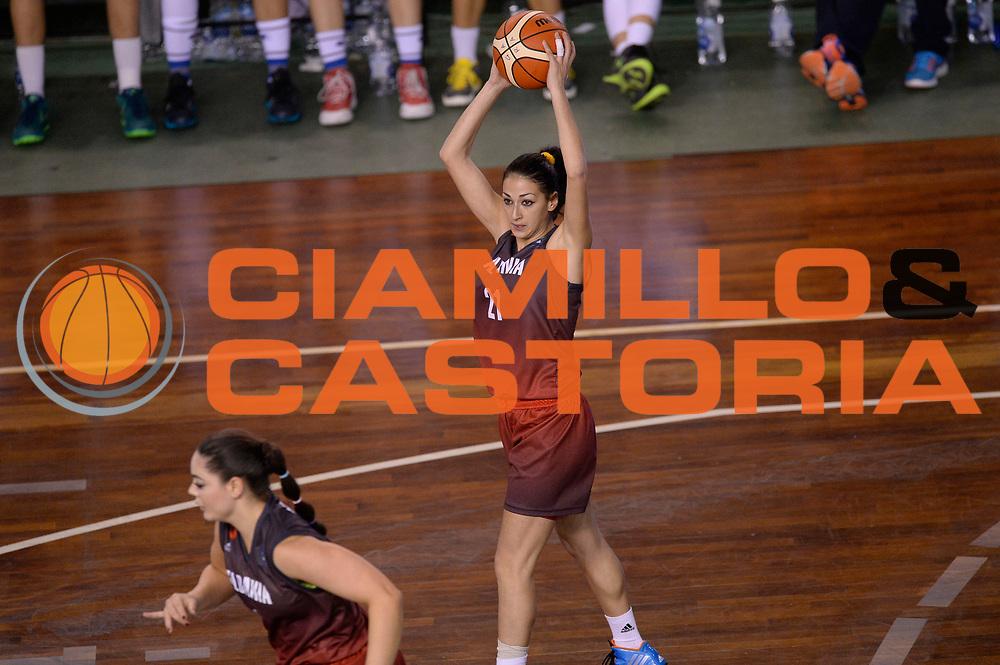 DESCRIZIONE : Lucca Nazionale Italia Femminile Qualificazione Europeo Femminile Italia Albania Italy Albania<br /> GIOCATORE : Enkeleda Llazar<br /> CATEGORIA : passaggio<br /> SQUADRA : Albania Albania<br /> EVENTO : Qualificazione Europeo Femminile<br /> GARA : Italia Albania Italy Albania<br /> DATA : 21/11/2015 <br /> SPORT : Pallacanestro<br /> AUTORE : Agenzia Ciamillo-Castoria/Max.Ceretti<br /> Galleria : FIP Nazionali 2015<br /> Fotonotizia : Lucca Nazionale Italia Femminile Qualificazione Europeo Femminile Italia Albania Italy Albania