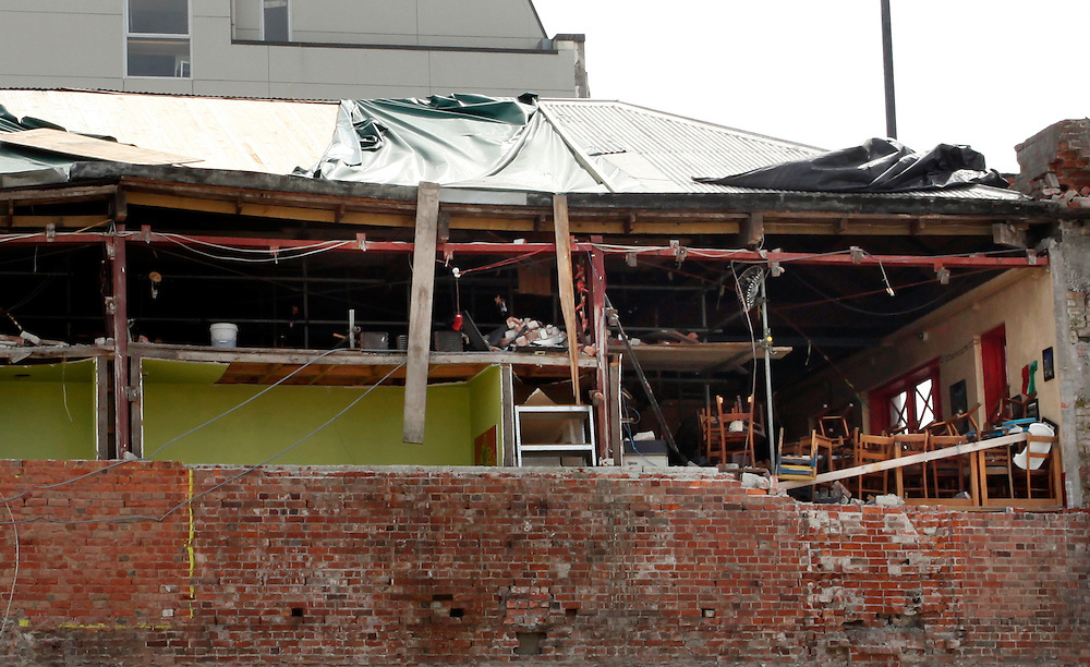 Chairs and wreckage in an earthquake damaged mexican restaurant, Christchurch, New Zealand, Thursday, February 09, 2012.  Credit:SNPA / Pam Johnson