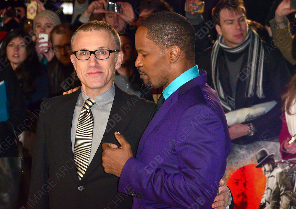 10.JANUARY.2013. LONDON<br /> <br /> THE UK PREMIERE OF 'DJANGO UNCHAINED' IN LEICESTER SQUARE, LONDON<br /> <br /> BYLINE: EDBIMAGEARCHIVE.CO.UK/JOE ALVAREZ<br /> <br /> *THIS IMAGE IS STRICTLY FOR UK NEWSPAPERS AND MAGAZINES ONLY*<br /> *FOR WORLD WIDE SALES AND WEB USE PLEASE CONTACT EDBIMAGEARCHIVE - 0208 954 5968*