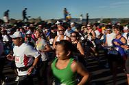 Runners begin the Silver Strand Half Marathon in Coronado, CA, Nov. 14, 2010.
