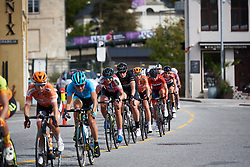 Vita Heine (NOR) and Kirsten Wild (NED) in the bunch at Ladies Tour of Norway 2018 Stage 3. A 154 km road race from Svinesund to Halden, Norway on August 19, 2018. Photo by Sean Robinson/velofocus.com